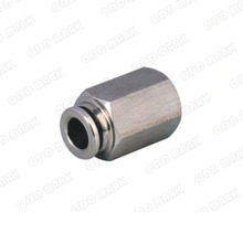Free shipping 10pcs/lot 10mm to 1/2″ PCF10-04,304 Stainless Steel Straight Male Connector