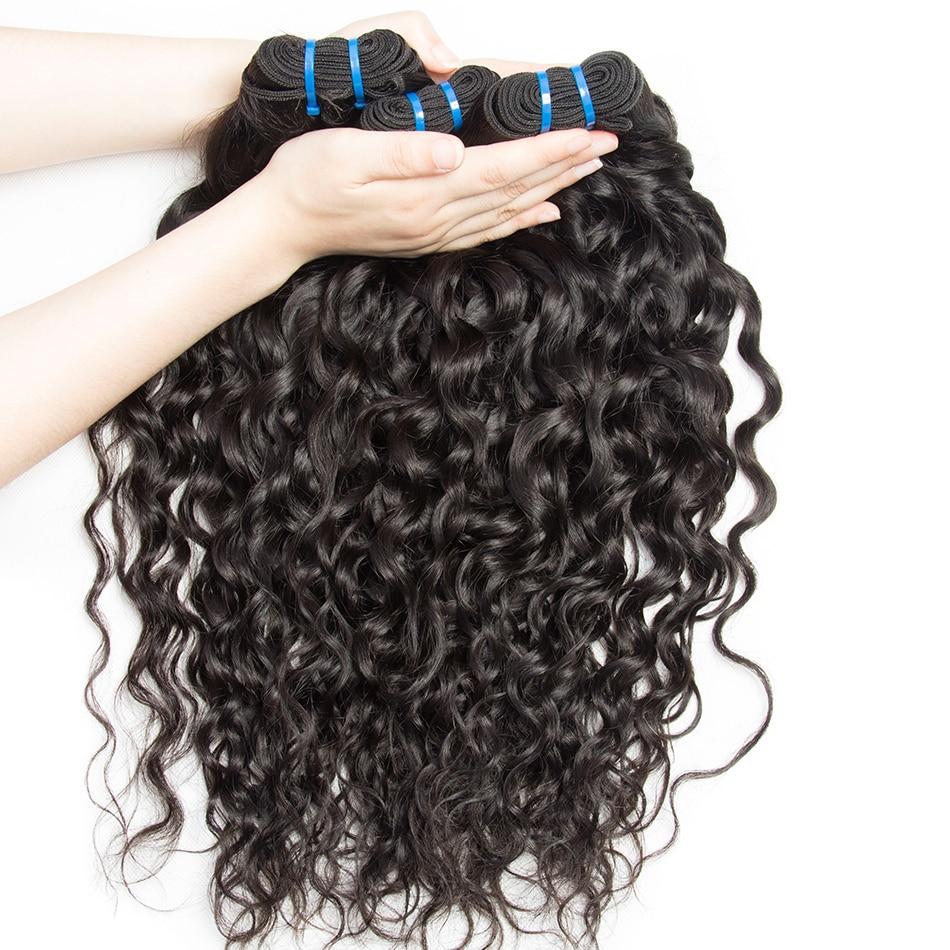 alibele hair brazilian water wave human hair bundles 1 or