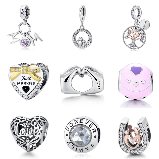 d0120c17b3f US $2.99 40% OFF|Aliexpress.com : Buy Authentic 100% 925 Sterling Silver  Beads Charm Love Makes A Family Clear Crystal Charms Fit Pandora Bracelets  ...