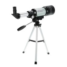 лучшая цена F30070M Monocular Outdoor Telescope HD 150X Refractive Astronomical Telescope H6mm/H20mm Eyepiece with Tripod Barlow Lens