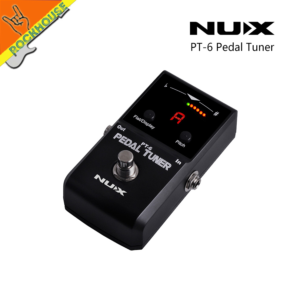 NUX Guitar Pedal Tuner Bass Pedal Tuner Pedal with Flat Tuning High Sensitivity Color LED Screen