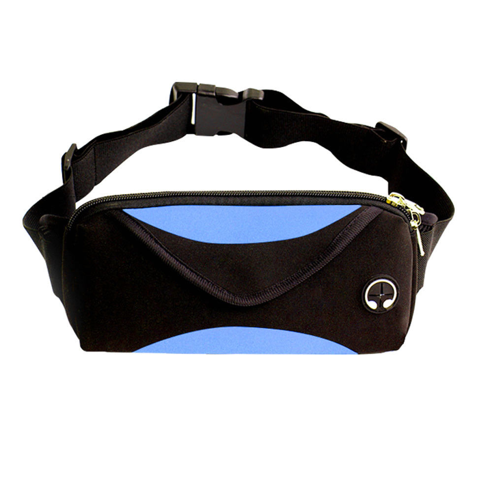 Casual Men's And Women's Universal Running Sports Waist Bag Belt Bag Fashion Solid Color Travel Fanny Pack