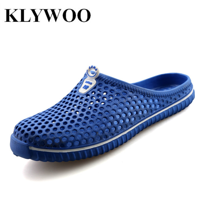 8da71fd4d63d5 KLYWOO Fashion Women Sandals New Hollow Out Hole Breathable Beach Shoes  Unisex Casual Couples Outdoor Flats Slippers Slides