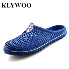KLYWOO Fashion Women Sandals New Hollow Out Hole Breathable Beach Shoes Unisex Casual Couples Outdoor Flats Slippers Slides