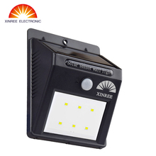 XINREE 6 LED Solar Powered Motion Sensor Light Outdoor Solar Spotlights Garden Patio Pathway Lamps Emergency Lighting