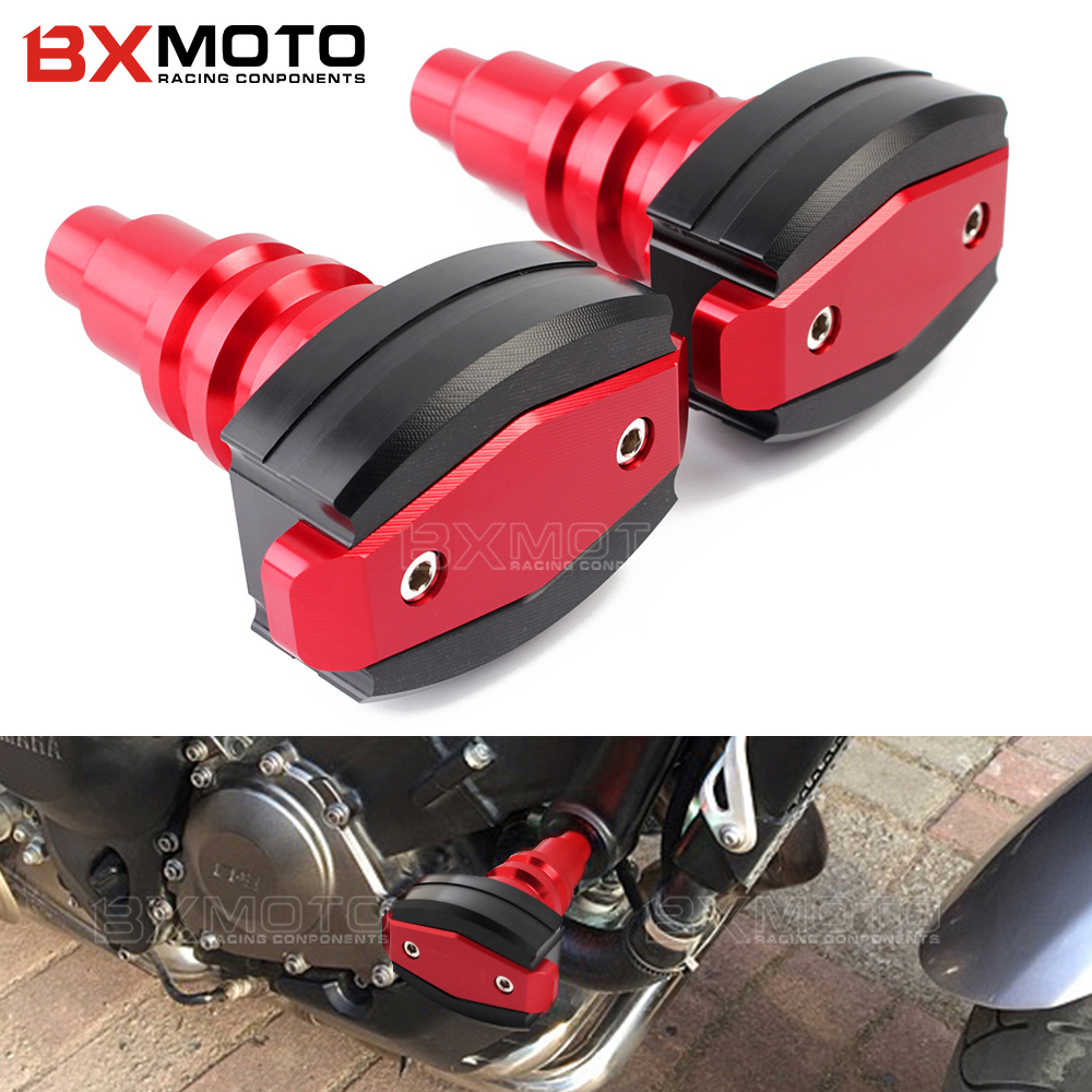 CNC Motorcycle Frame Sliders anti Crash Engine Guard Pad Side Shield Protector For YAMAHA FZ1 FZEAR 2006-2014 Falling Protection motorcycle cnc 6 hole beveled engine side guard derby cover