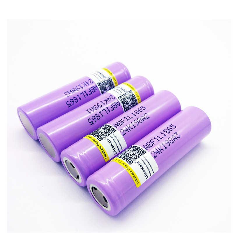 2 шт. умное устройство для зарядки никель-металлогидридных аккумуляторов от компании liitokala: lii-f1l оригинальный 3,6 v 18650 inr18650 f1l 3350 мА/ч, 4,2 v образный вырез аккумуляторная батарея