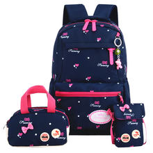 Children School Bags 3 set Girls Orthopedic printing Backpack Kids princess school backpack Mochila Infantil Primary schoolbags(China)