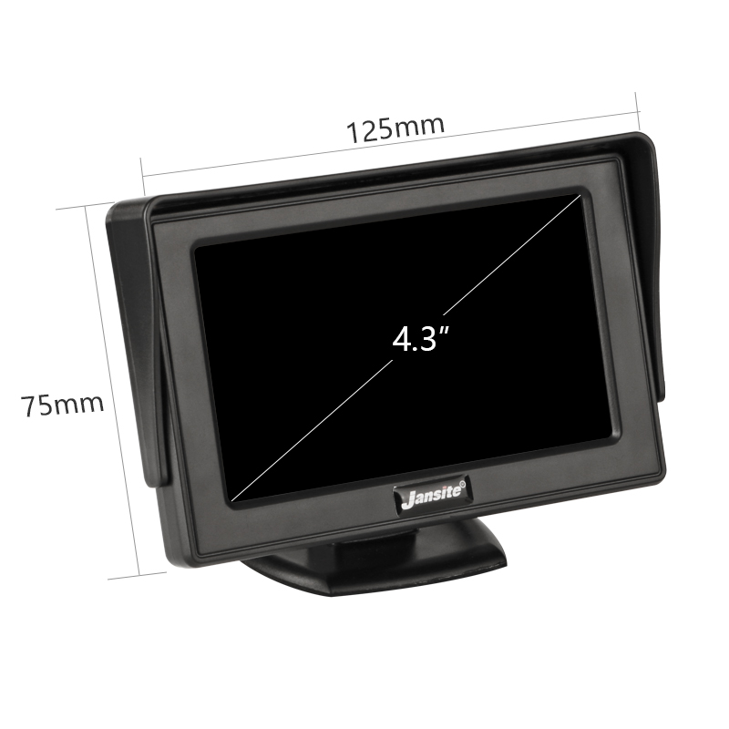 Jansite 4 3 Inch TFT LCD Car Monitor Display Wireless Cameras Reverse Camera Parking System for Car Rearview Monitors NTSC PAL in Car Monitors from Automobiles Motorcycles