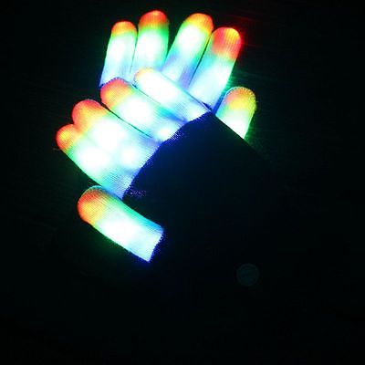 Glowing Rave Gloves 1