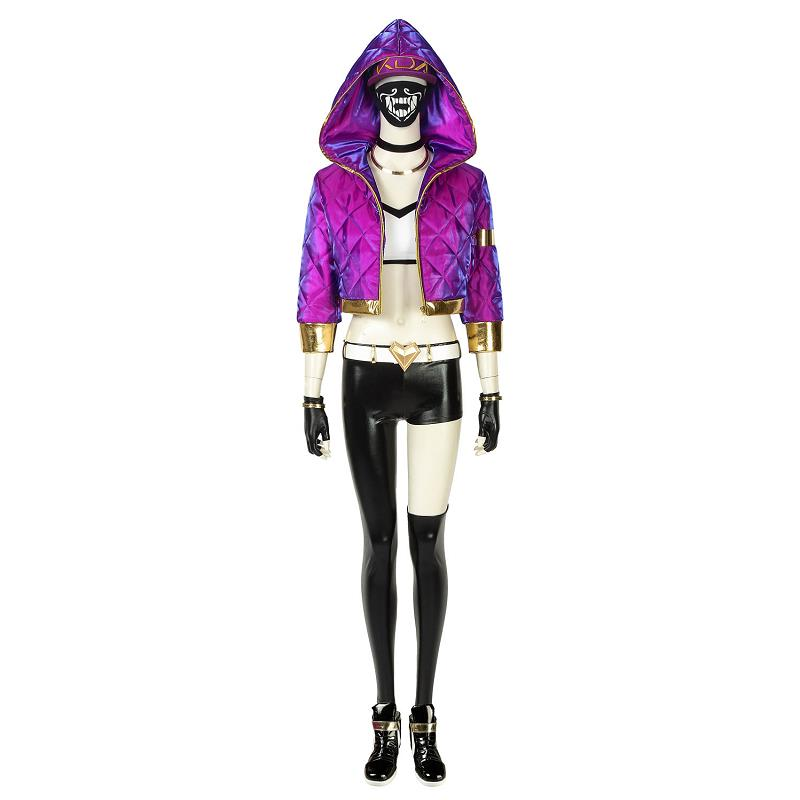 Game LOL Costume KDA Akali Cosplay Leather Uniform League of Legends Akal Sexy Fancy Outfit New Skin Halloween Women Outfit Suit