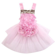 Infant Baby Girl Pink Tulle Bodysuit Floral Summer Jumpsuit Flower Party Outfits