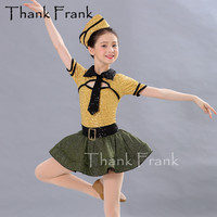 New Girls Dance Costumes Kids Sequin Costume With Hat Jazz Woman Adult Sexy Cool Shiny Rave Outfit Child Latin Dance Dress C551