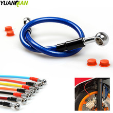 450MM Motorcycle Braided Steel Brake Clutch Oil Hose Line Pipe Colorful Fit ATV Dirt Pit Bike Brake Clutch Line FOR KAWASAKI KTM