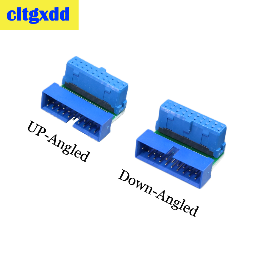 Cltgxdd USB 3.0 20pin Male To Female Extension Adapter Angled 90 Degree For Motherboard Mainboard Connector Socket