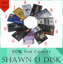 4GB/8GB/16GB/32GB Bank Credit Card Shape USB Flash Drive 512GB Pendrive 256GB Memory Stick128GB USB 2.0,Drop Shipping