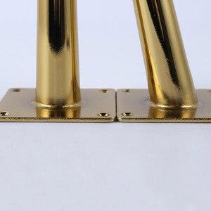 Image 5 - 4 قطعة طاولة أثاث الذهب الساقين تحميل 2000 رطل التلفزيون خزانة القدم أريكة الساق الأجهزة خزانة قدم 200x80 مللي متر مدبب الساق