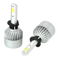 H1 6000 6500K Cool White DC 9 32V High Power 1 Pair Headlamp Bulbs LED Car