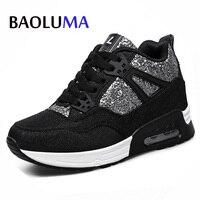 מותג יוקרה בעבודת יד 2018 נעלי עור חדשות Baoluma Tenis Feminino Sapato נעליים מזדמנים נשים נעלי כוכב אוויר Femme סל