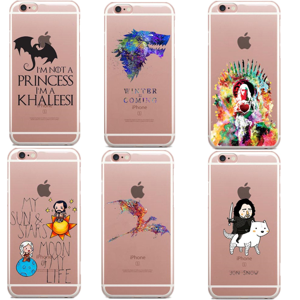 Game Of Throness Moon of My Life Not Princess Im Khaleesi Soft Phone Case Cover For iPhone 5 5S SE 6 6S Plus X 7 7Plus 8 8Plus