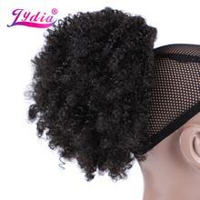 Лидия 8 дюймов Синтетические волосы для наращивания пучок кудрявые