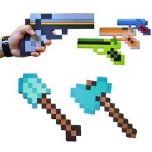 1 шт. Новый Minecraft Игрушки Minecraft Игры Пены Оружие Меч Топор Лопатой пистолет ЕВА Модель Игрушки Действие Рис Игрушка в Подарок для Детей Игры