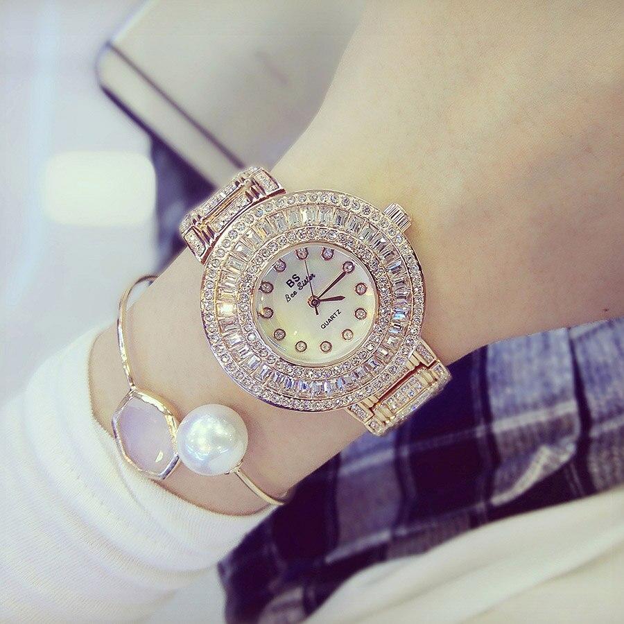 2017 New Women Watches Luxury Diamond Famous Brand Elegant Dress Watches Ladies Wristwatches Relogios Femininos Saat ZEK012