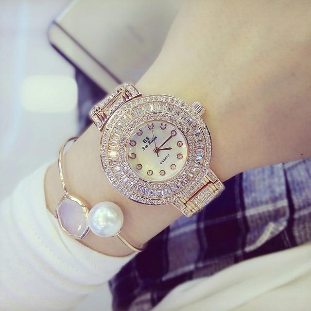 2017 New Women Watches Luxury Diamond Famous Brand Elegant Dress Watches Ladies