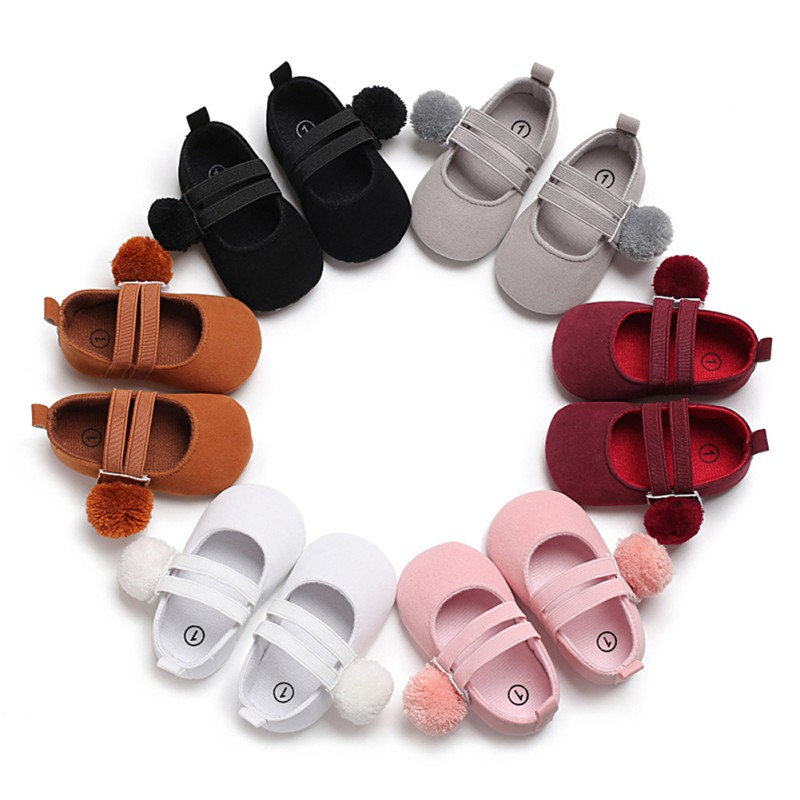 Baby Cute Toddler Shoes First Walker 2018 Spring Summer Hair Ball Princess Shoes Newborn Soft Bottom Anti-Skid Baby Girl Shoes