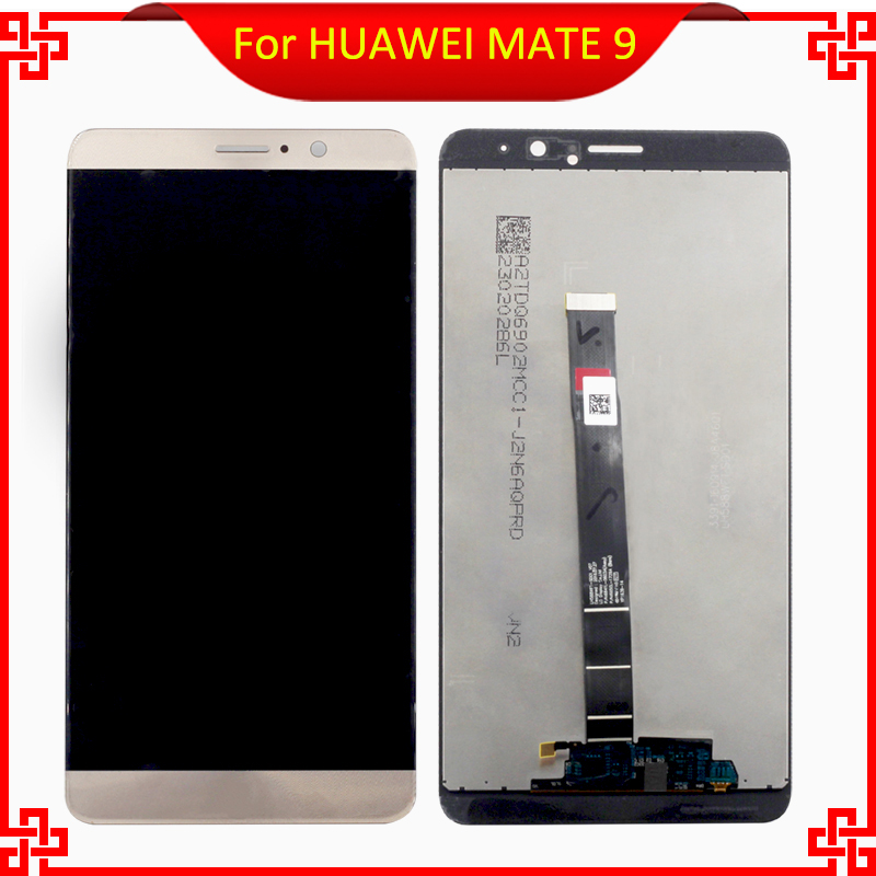 Prix pour Pour huawei mate 9 mate9 lcd display + écran tactile digitizer capteur en verre de remplacement assemblée pièces 5.9 pouce outils gratuits