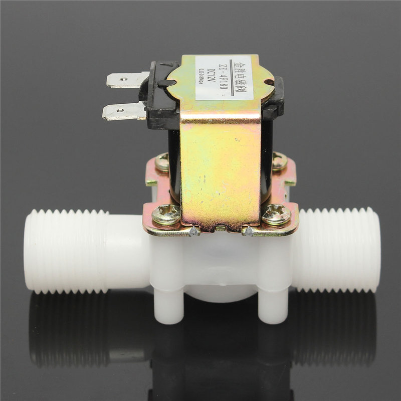New 1/2 Inch Newest Electric Solenoid Valve 12V Magnetic DC N/C Water Air Inlet Flow Switch DC12V 5W 80x35x55mm Favorable Price