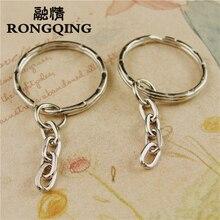RONGQING Diy Accessories 100pcs Keyring Split Ring Good Quality Key Ring For Keychain Making Sleutelhanger round