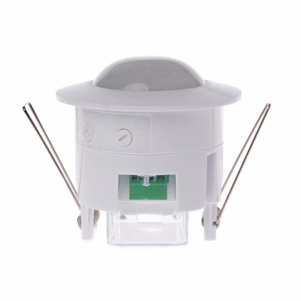 110-240 V AC Réglable 360 Degrés Plafond PIR Infrarouge Body Motion Sensor Détecteur Lampe Interrupteur de Lumière