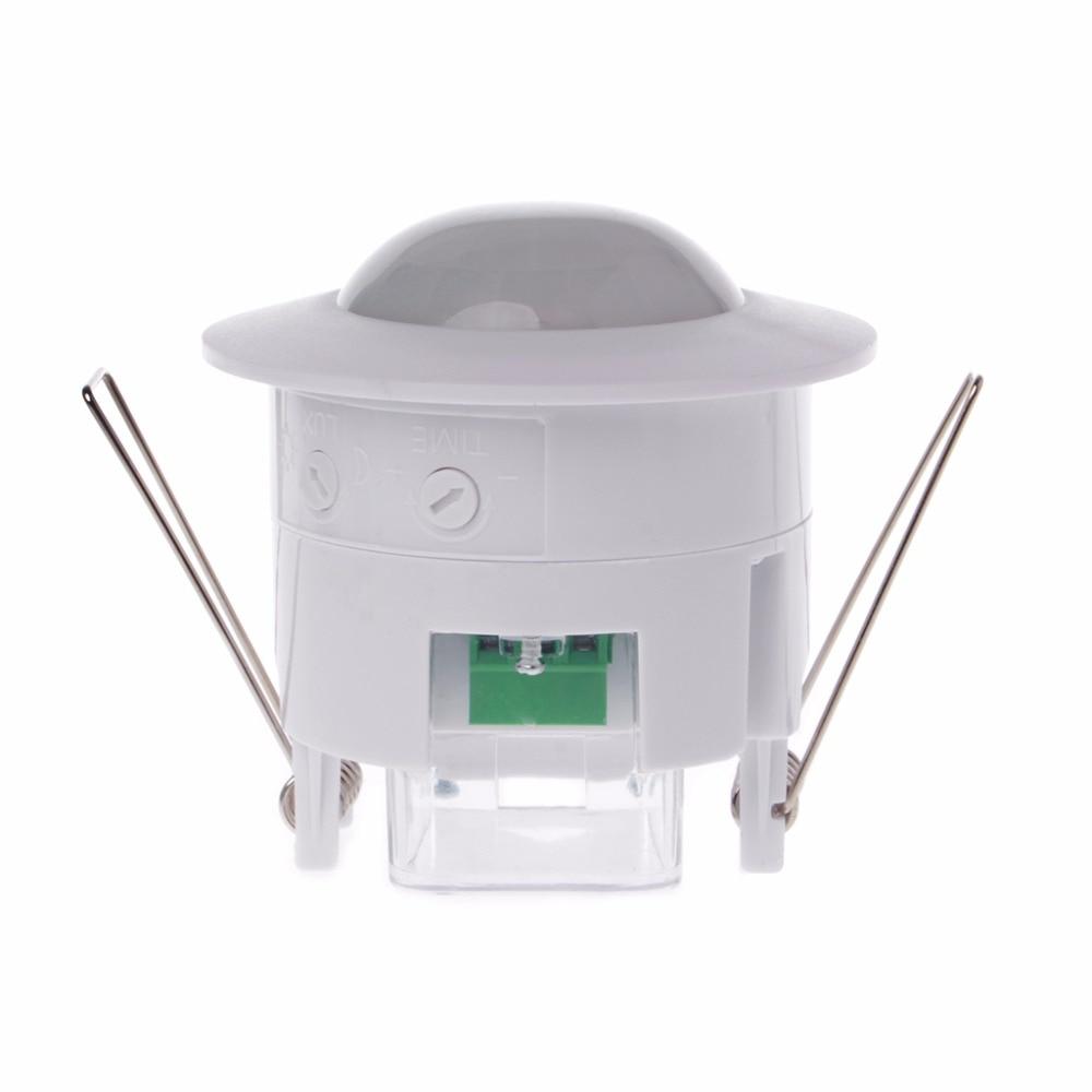Sensor Switch 110-240V AC Adjustable 360 Degree Ceiling PIR Infrared Body Motion Detector Lamp Light Switches safurance 110v 240v infrared ceiling pir body motion sensor detector light lamp switch 360 home automation