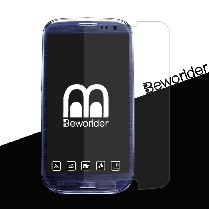 2Pcs Beworlder For Samsung Galaxy S3 i9300 Samsung S3 Glass 9H Scratch Proof Screen Tempered Glass Screen Protector Film