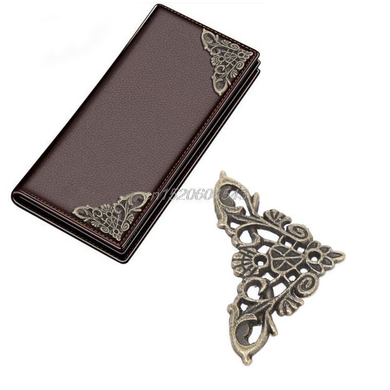 12x Antique Bronze Decorative Jewelry Gift Box Album Feet Leg Corner Protector R06 Whosale&DropShip