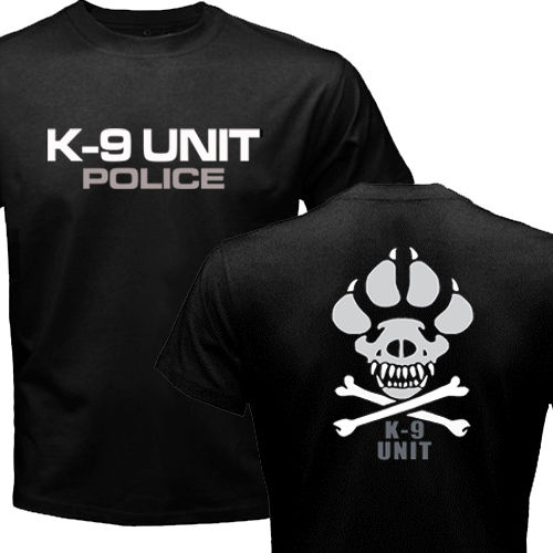 K-9 Special Unit Police Dog Canine T-shirt Men's Short Sleeve Cotton Top Tee Shirt