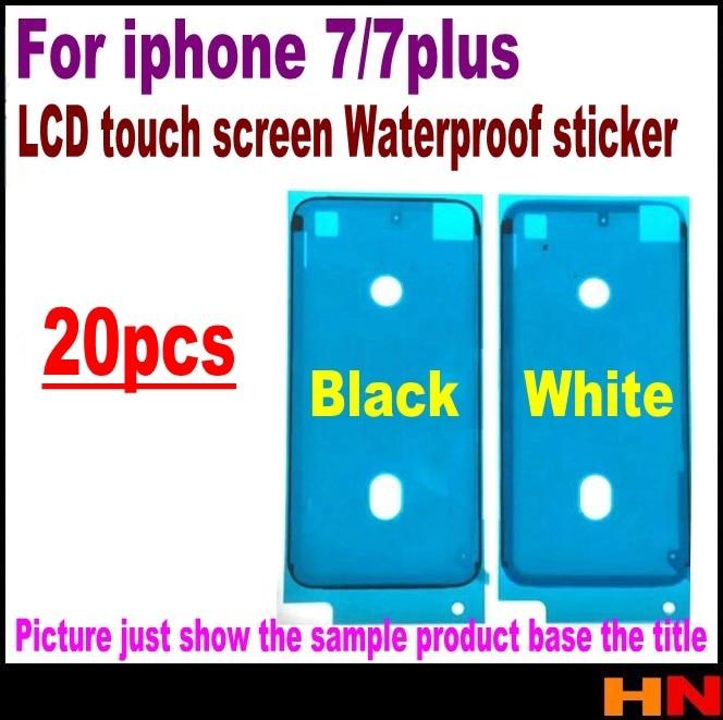 bilder für 20 stücke wasserdicht 3 m pre-cut anhaftender kleber klebeband-aufkleber für iphone 7 7g plus 7 p vorderseite lcd-display rahmen
