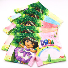 5pcs/Lot Cute Children Girls Underwear Kids Fashion Boxer Brief Infant Baby Girl Panties fashion children underpants for 3-10Y