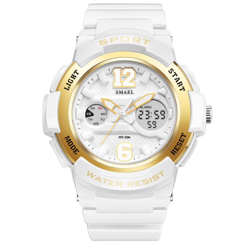 2017 New Brand Ladies Watch LED Waterproof Rose Gold White Women Watch Top Brand Quartz Watch