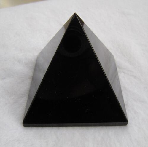160g 60*60mm AAA + Natürliche Rock Schwarz Obsidian Kristall Pyramide Reiki Dekoration Fengshui