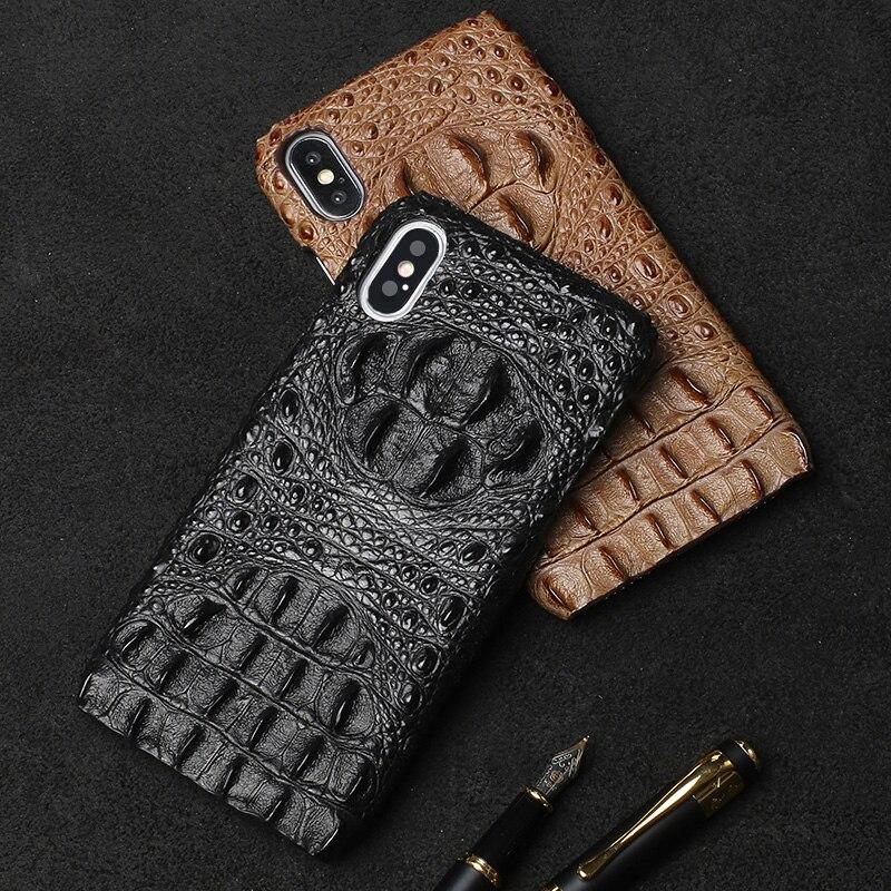 Marque Vachette téléphone étui pour iphone X crocodile motif demi-paquet mobile coque de téléphone couverture arrière de téléphone Portable - 3