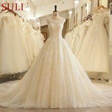 SuLi SL-125 Off White Chapel Train 10 Wedding Dresses 2018