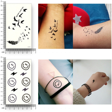 12 Sheets Fake Temporary Tattoo Waterproof Water Transfer diamond Rose Cat Stickers Women Men Beauty Flash Sexy Cool Body Art