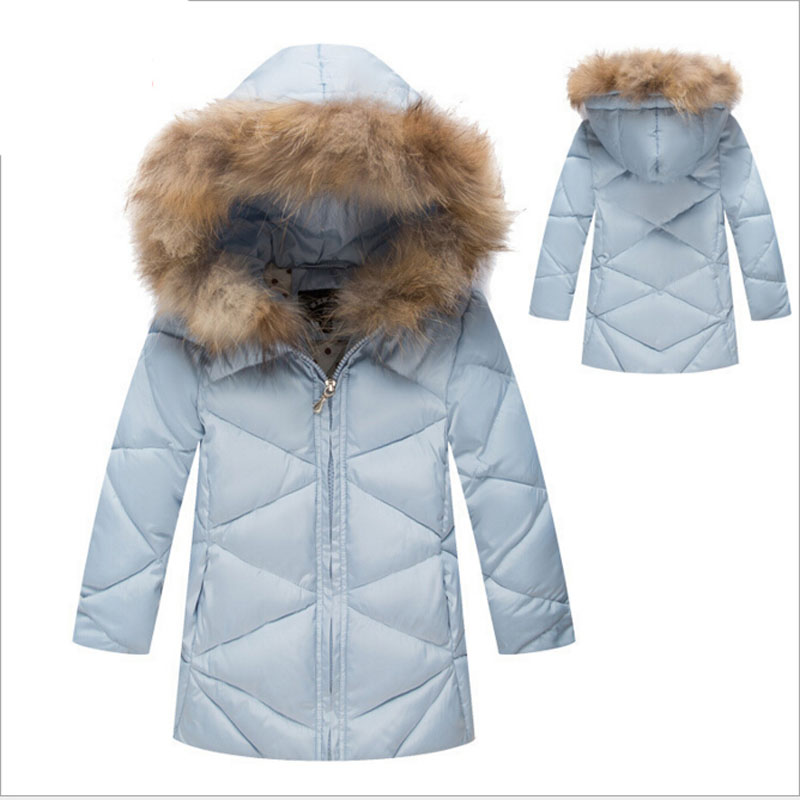 Baby clothes Girls Winter Solid Hooded Down Coats Kids Fashion Brand Plaid Down Jackets Children Warm Long Clothes new winter baby girls clothes white duck down parka warm goose down jackets for kid warm long coats big fur hooded for children