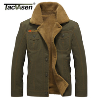 TACVASEN New Military Tactical Jacket Men Winter Thermal Cotton Jacket Coat Army Pilot Jackets Air Force