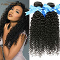 Бразильский Девственные Волосы 3 Шт. Много Странный Вьющиеся Девственные Волосы 7А класса Бразильские Плетение Волос Пучки Человека Вьющиеся Afro Kinky Вьющиеся Волны