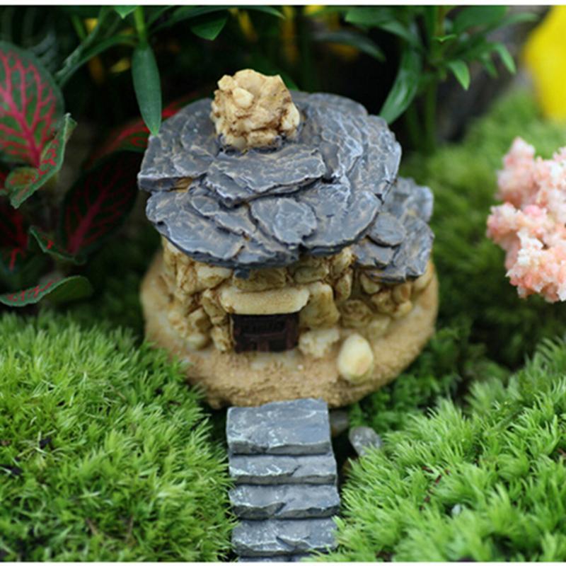 Micro Stone House Fairy Garden Miniature Craft Micro Cottage Landscape  Decoration Random Style For DIY Resin
