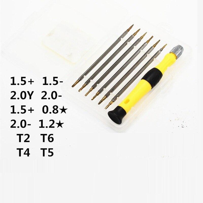 Torx Destornillador T2 T4 T5 T6 Kits de reparaci/ón para tel/éfonos m/óviles