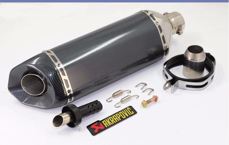 Universal 51mm Big Size Akrapovic Yoshimura Motorcycle Muffler Exhaust with Double Exhaust Hole CB600 CB400 CB250